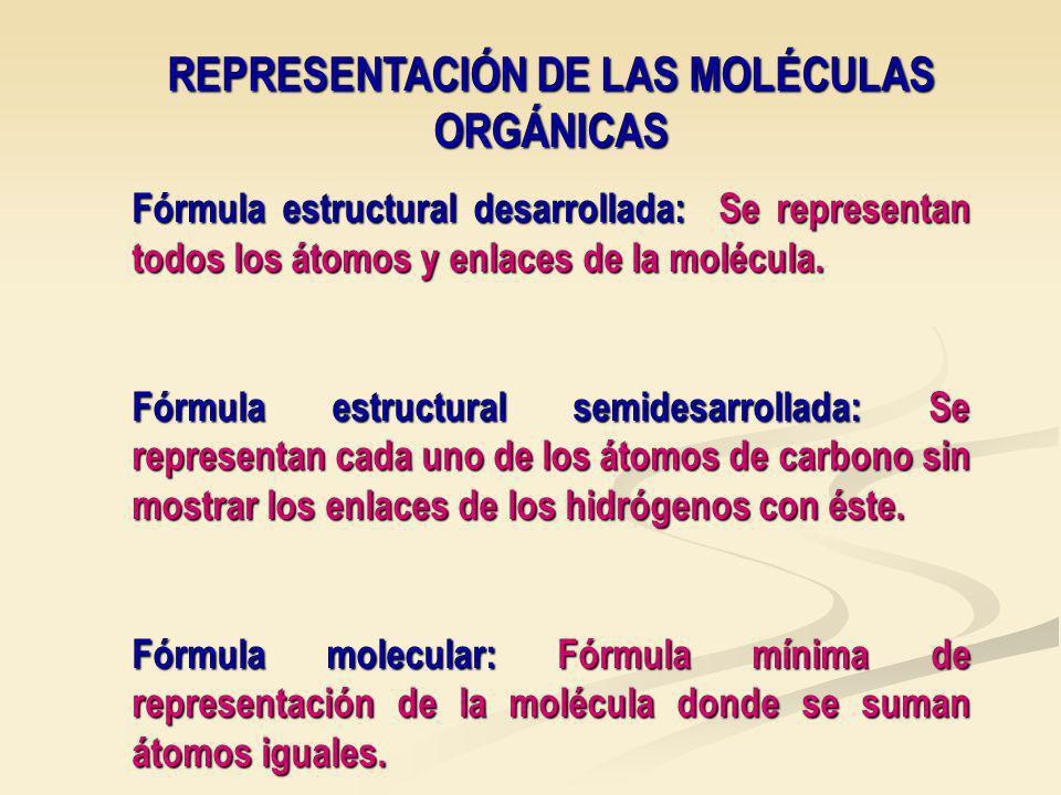 REPRESENTACIÓN DE LAS MOLÉCULAS ORGÁNICAS