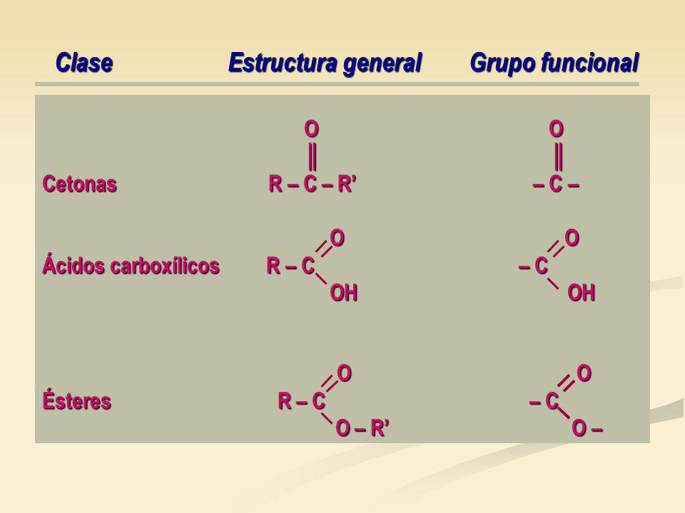 Clase Estructura general Grupo funcional