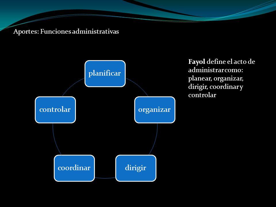 Aportes: Funciones administrativas