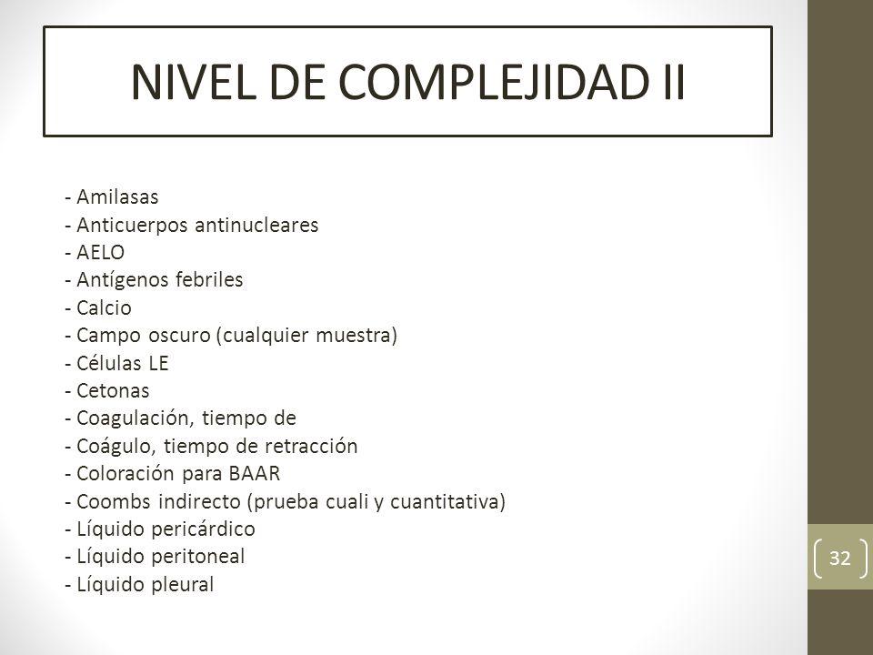 NIVEL DE COMPLEJIDAD II