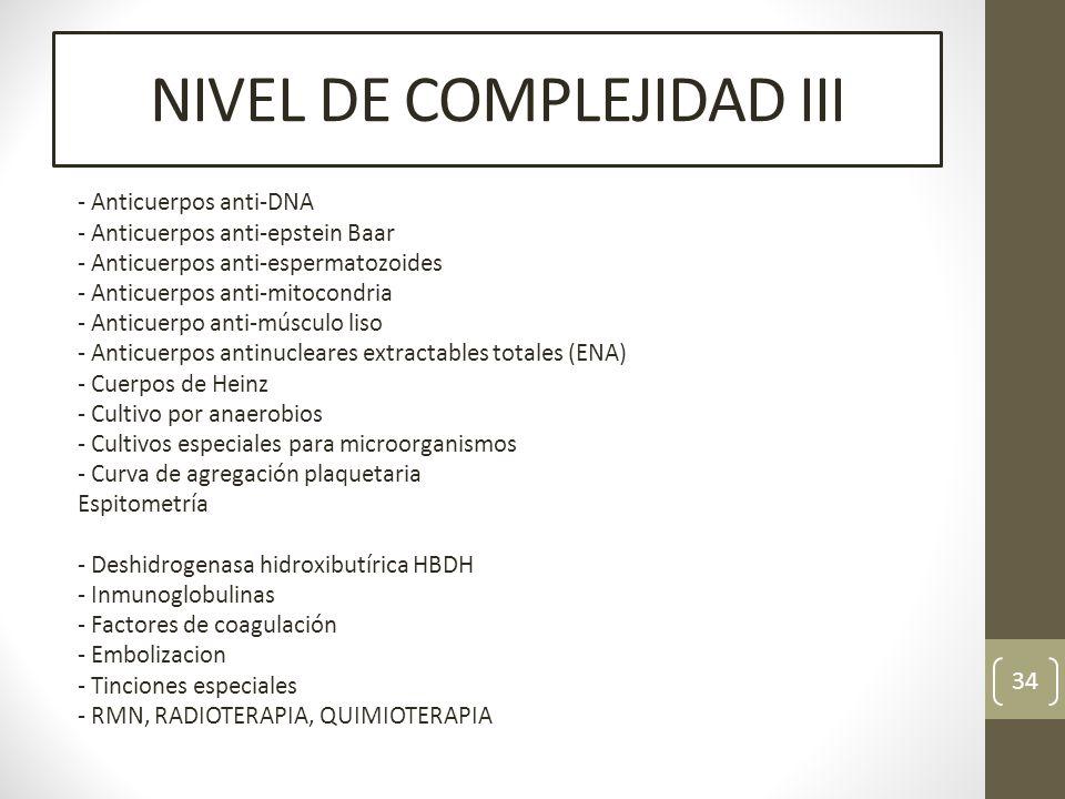 NIVEL DE COMPLEJIDAD III