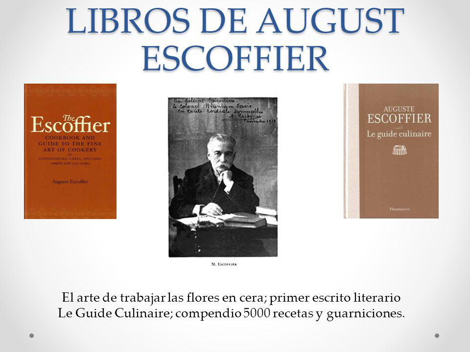 LIBROS DE AUGUST ESCOFFIER