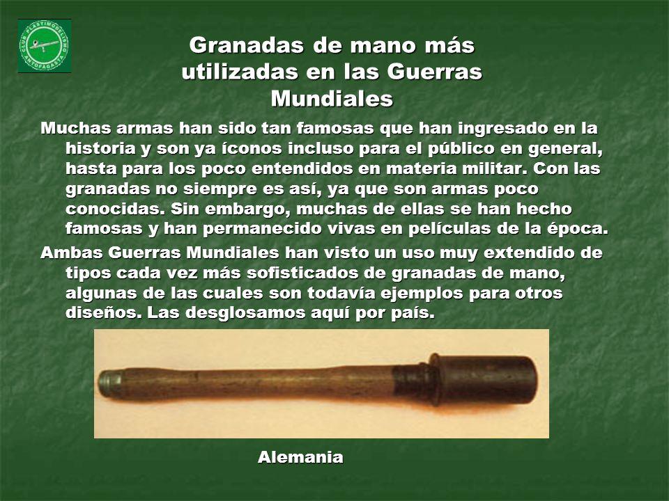 Granadas de mano más utilizadas en las Guerras Mundiales