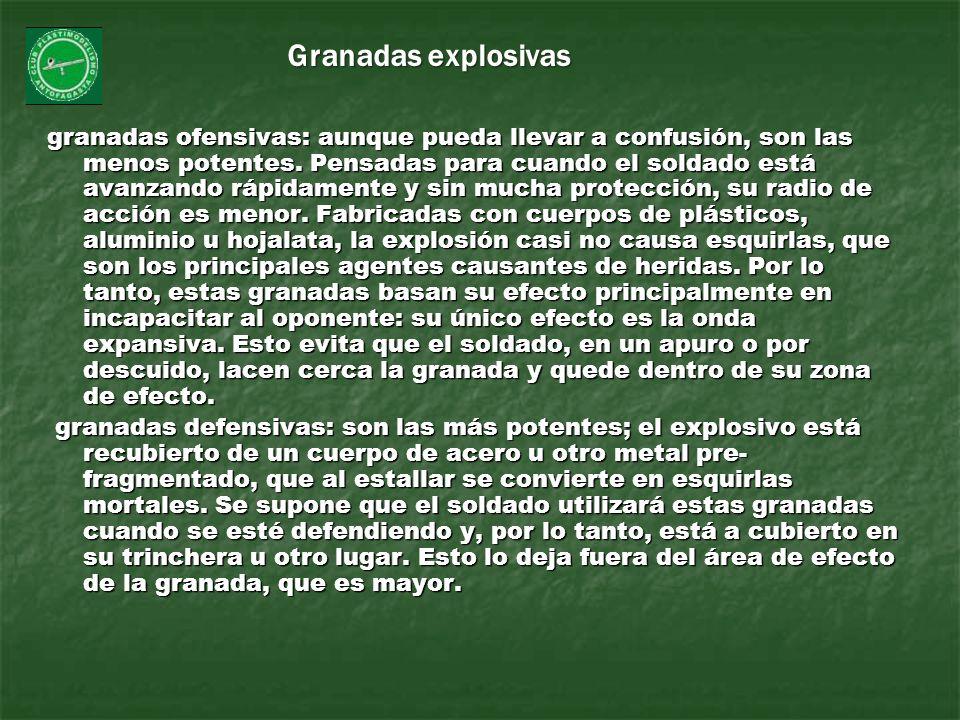 Granadas explosivas