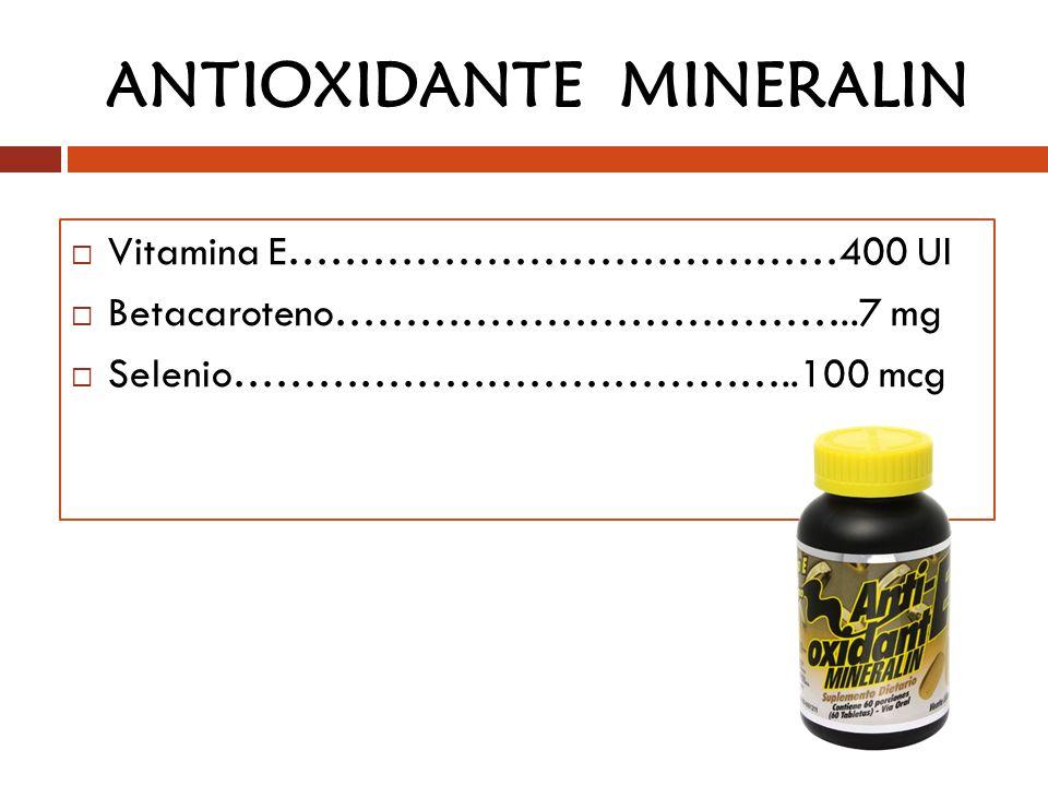 ANTIOXIDANTE MINERALIN