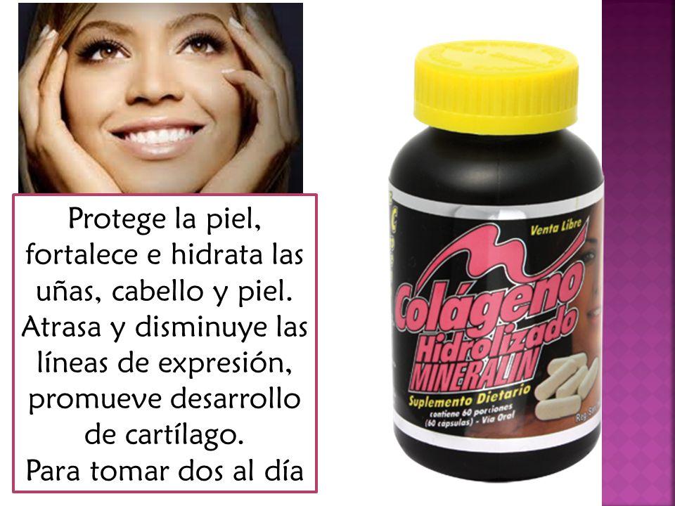 Protege la piel, fortalece e hidrata las uñas, cabello y piel