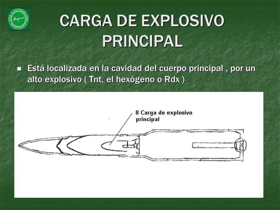 CARGA DE EXPLOSIVO PRINCIPAL