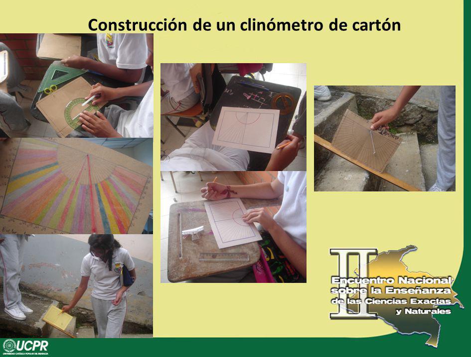 Construcción de un clinómetro de cartón