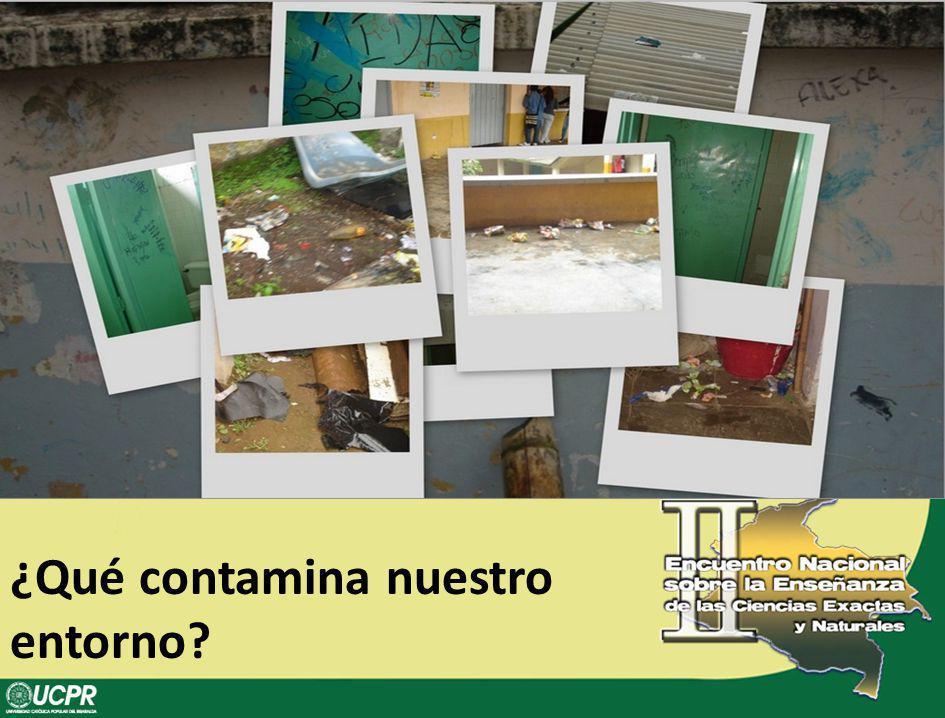 ¿Qué contamina nuestro entorno