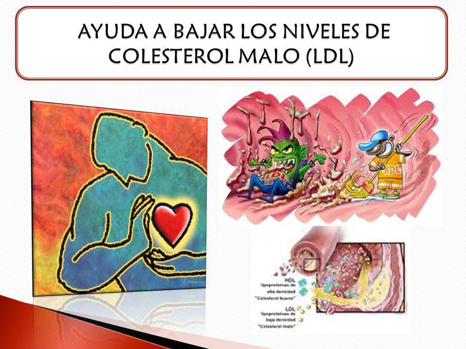 AYUDA A BAJAR LOS NIVELES DE COLESTEROL MALO (LDL)