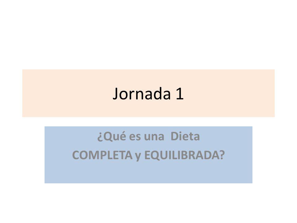 ¿Qué es una Dieta COMPLETA y EQUILIBRADA