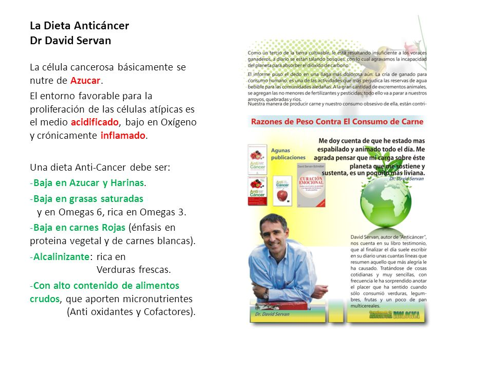 La Dieta Anticáncer Dr David Servan