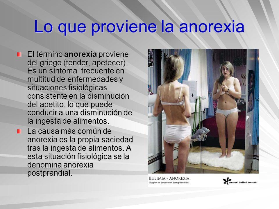 Lo que proviene la anorexia