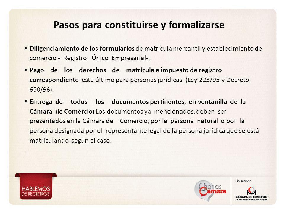 Pasos para constituirse y formalizarse