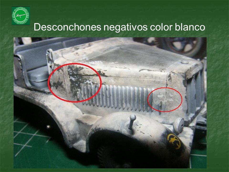 Desconchones negativos color blanco