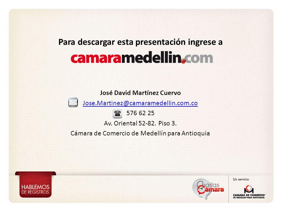 Para descargar esta presentación ingrese a José David Martínez Cuervo