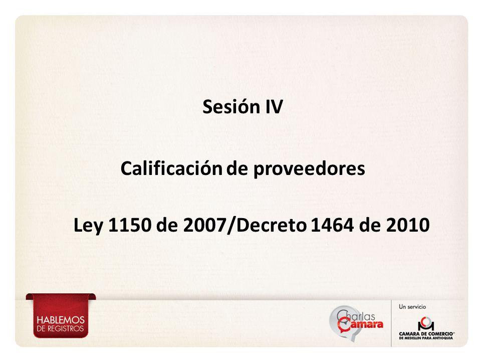 Calificación de proveedores
