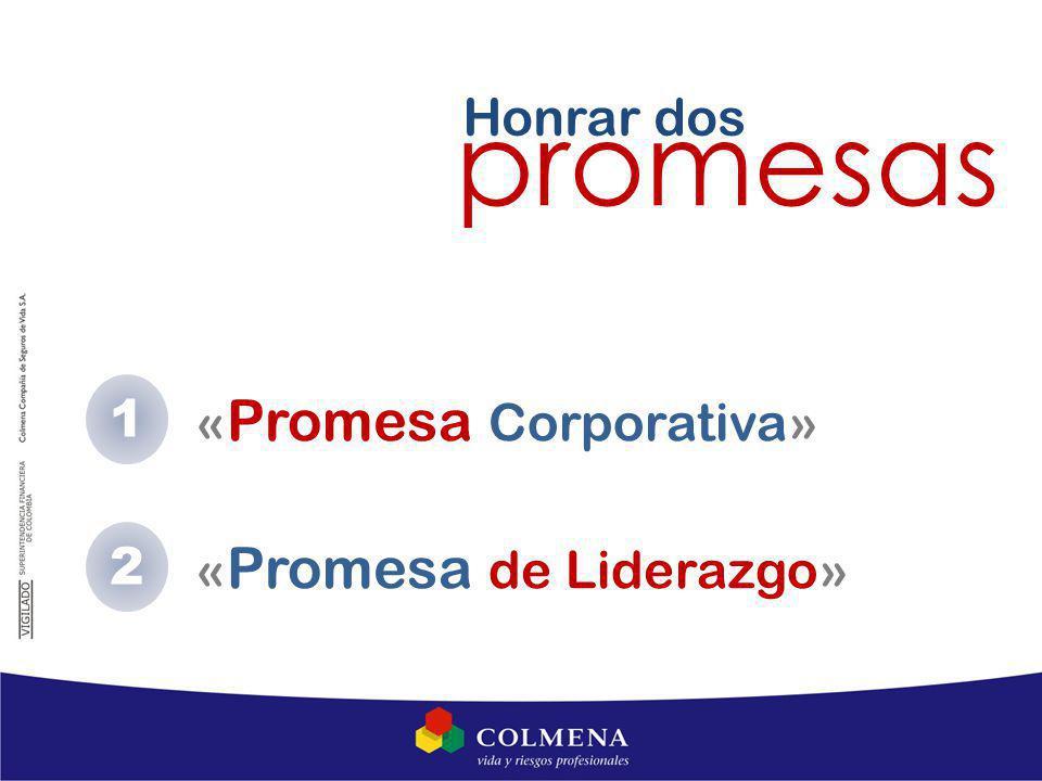 Honrar dos promesas 1 «Promesa Corporativa» 2 «Promesa de Liderazgo»