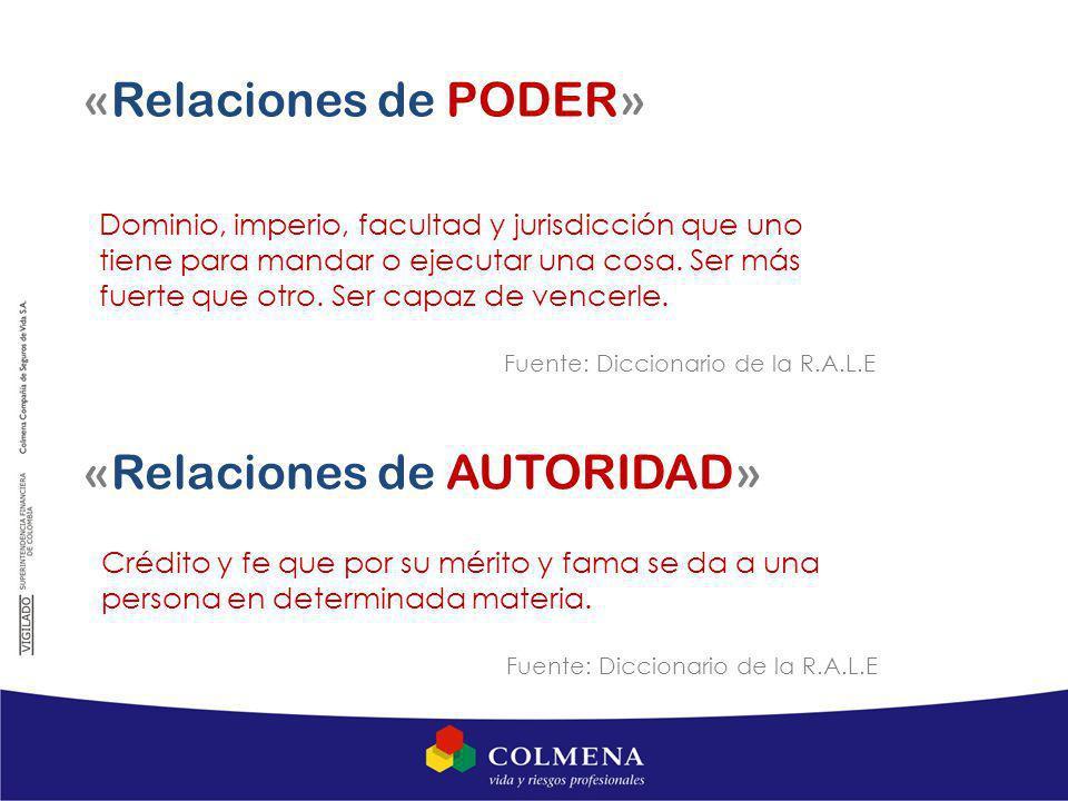 «Relaciones de AUTORIDAD»