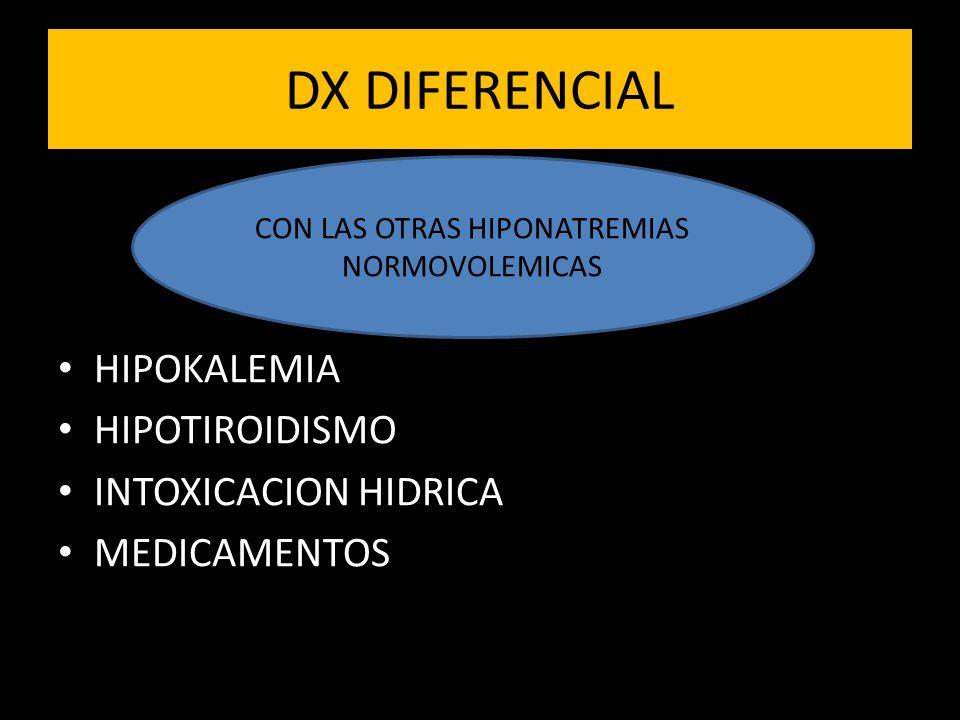 CON LAS OTRAS HIPONATREMIAS