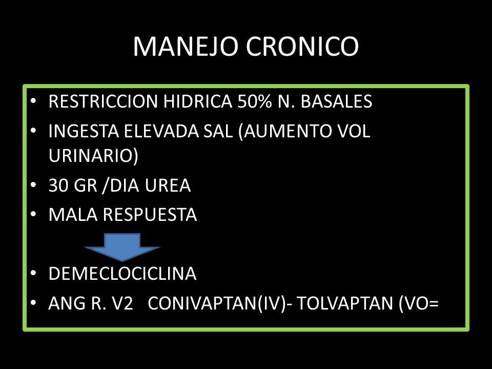 MANEJO CRONICO RESTRICCION HIDRICA 50% N. BASALES