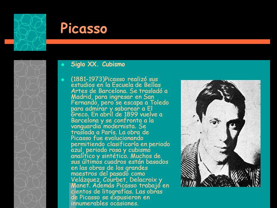 Picasso Siglo XX. Cubismo
