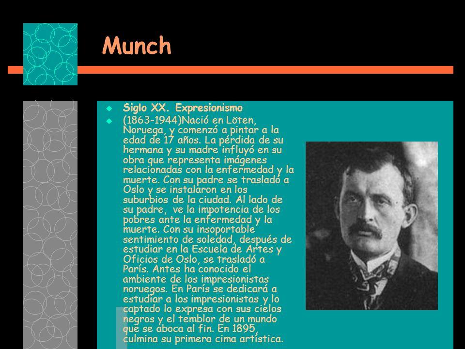 Munch Siglo XX. Expresionismo