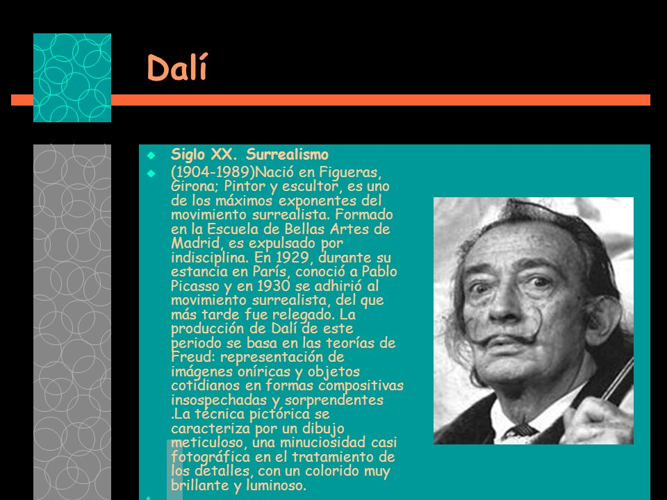 Dalí Siglo XX. Surrealismo