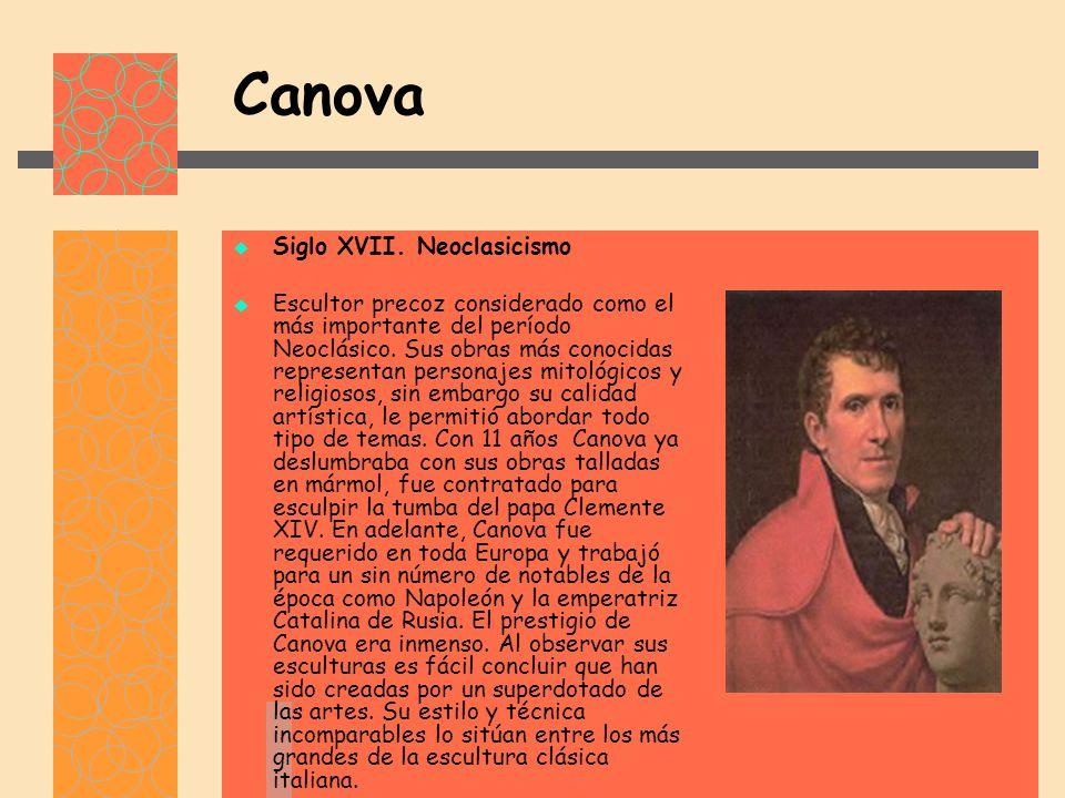 Canova Siglo XVII. Neoclasicismo