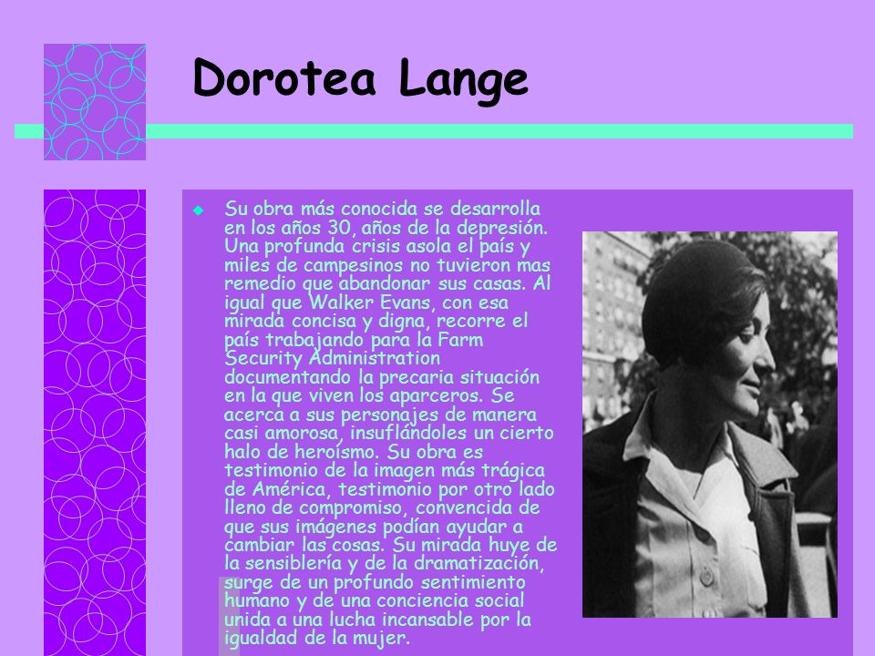 Dorotea Lange