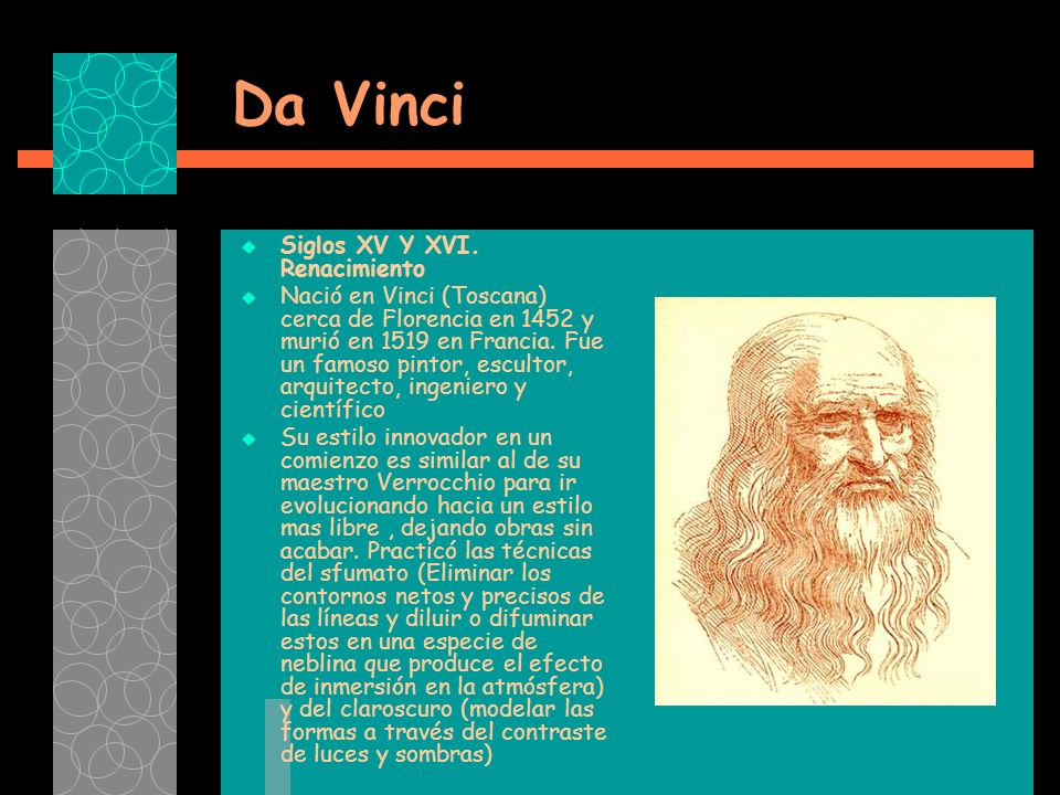 Da Vinci Siglos XV Y XVI. Renacimiento