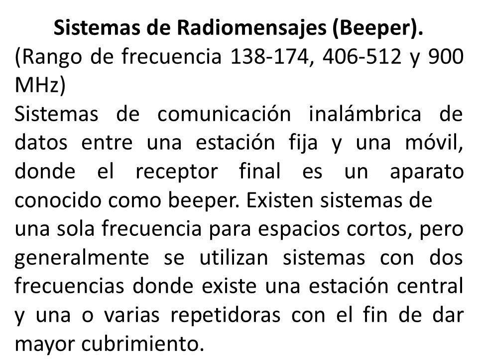 Sistemas de Radiomensajes (Beeper).