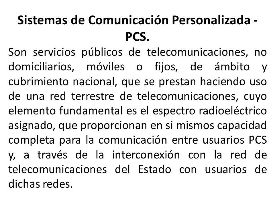 Sistemas de Comunicación Personalizada - PCS.