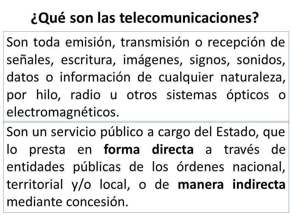 ¿Qué son las telecomunicaciones