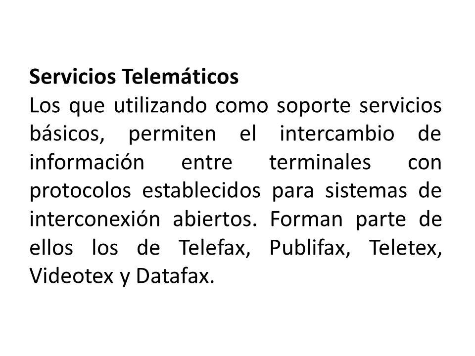 Servicios Telemáticos