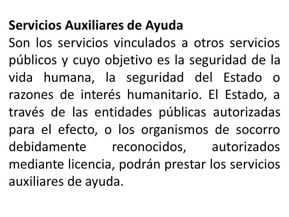 Servicios Auxiliares de Ayuda
