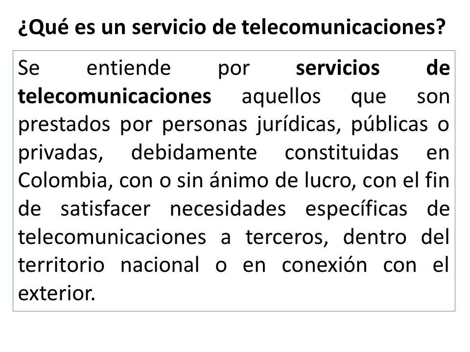 ¿Qué es un servicio de telecomunicaciones