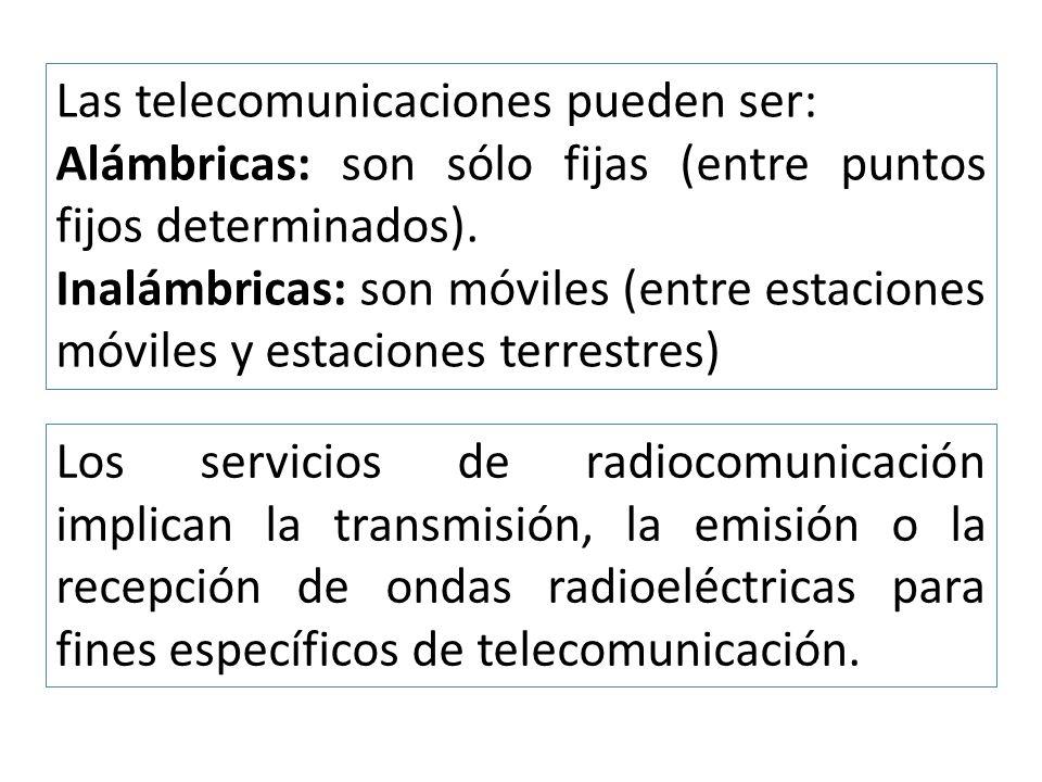 Las telecomunicaciones pueden ser: