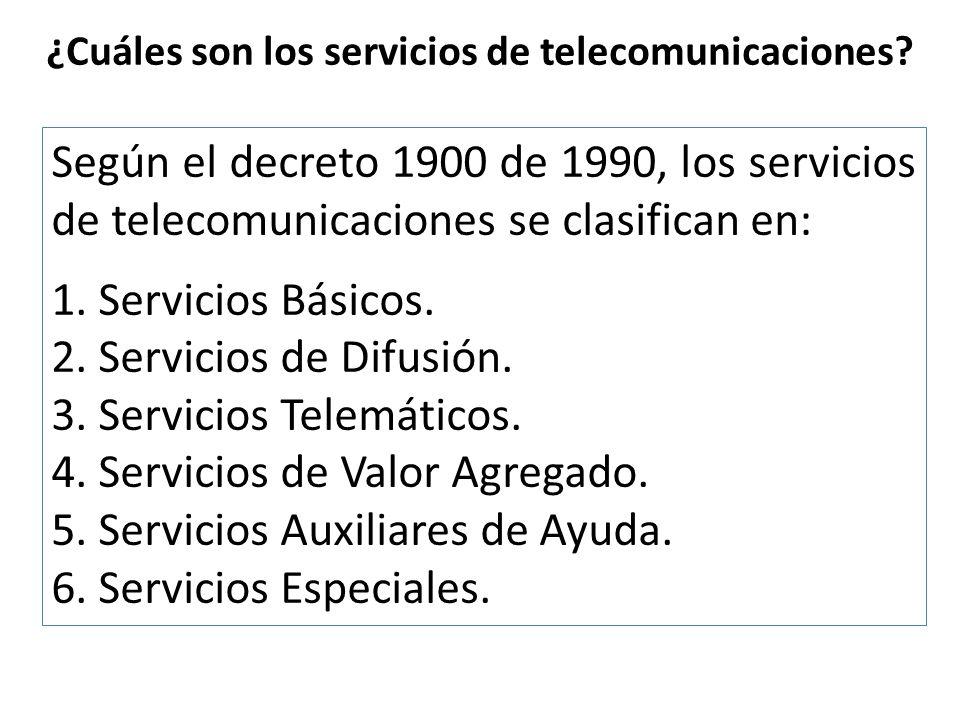 ¿Cuáles son los servicios de telecomunicaciones