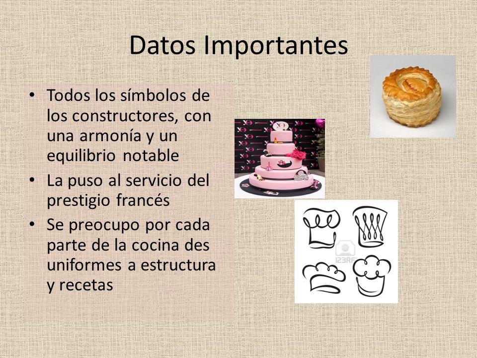 Datos Importantes Todos los símbolos de los constructores, con una armonía y un equilibrio notable.