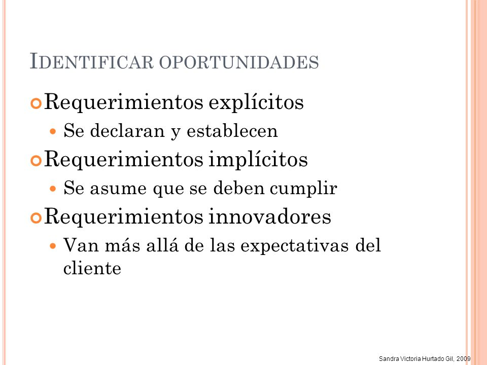 Identificar oportunidades
