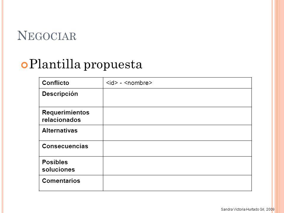 Negociar Plantilla propuesta Conflicto <id> - <nombre>
