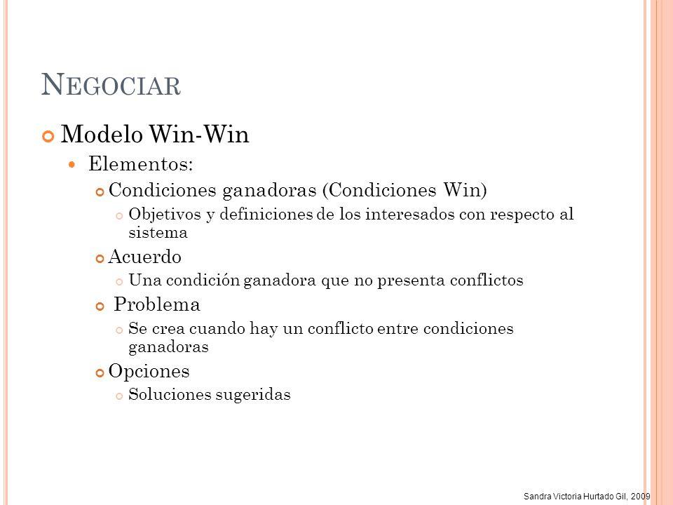 Negociar Modelo Win-Win Elementos:
