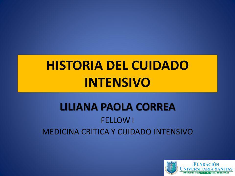 HISTORIA DEL CUIDADO INTENSIVO