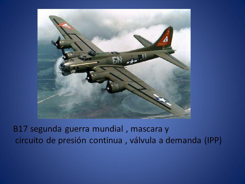 B17 segunda guerra mundial , mascara y