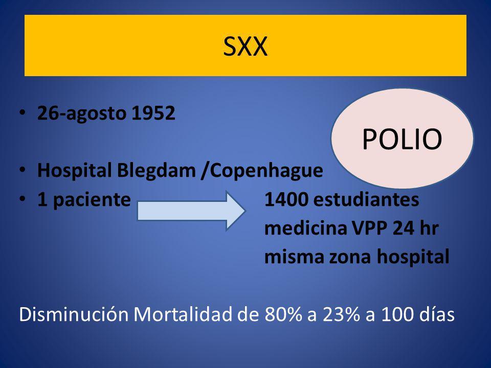 POLIO SXX 26-agosto 1952 Hospital Blegdam /Copenhague
