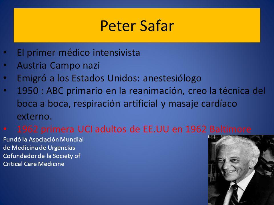 Peter Safar El primer médico intensivista Austria Campo nazi