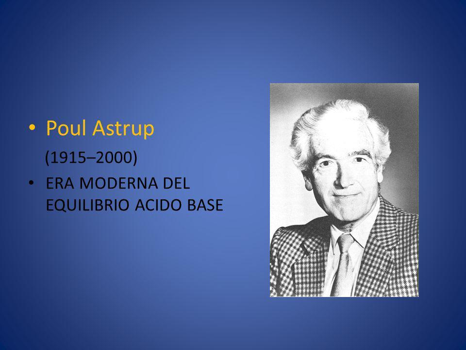 Poul Astrup (1915–2000) ERA MODERNA DEL EQUILIBRIO ACIDO BASE
