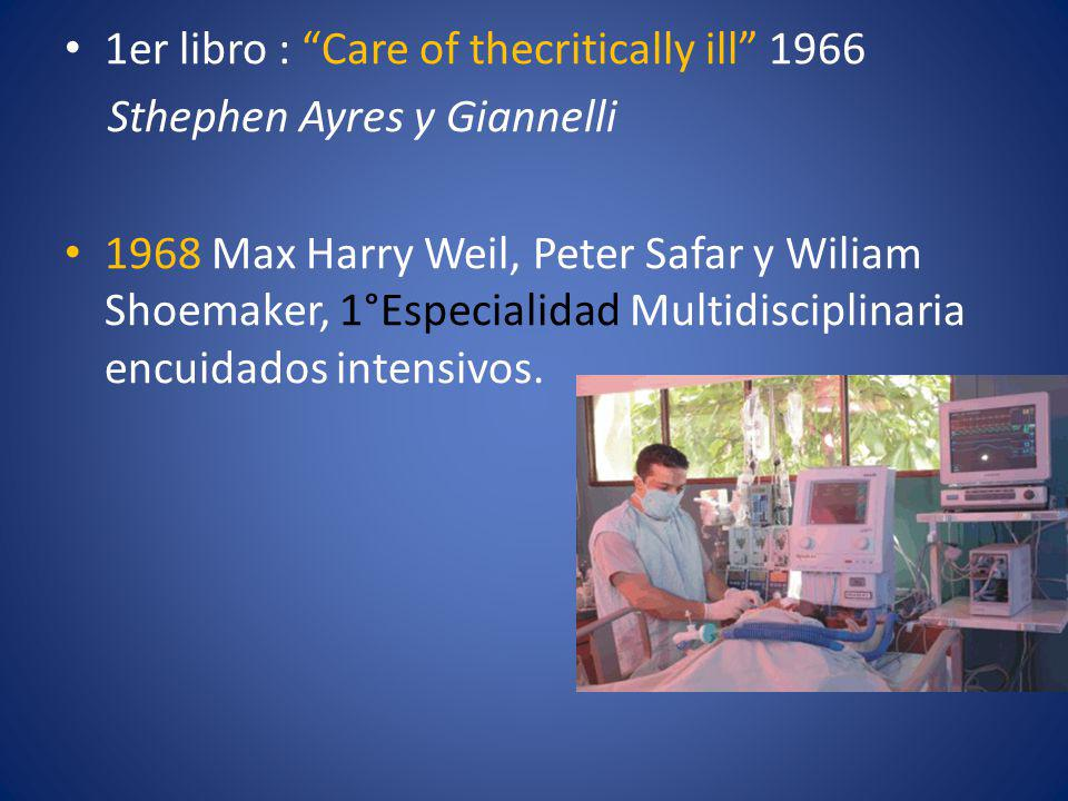 1er libro : Care of thecritically ill 1966