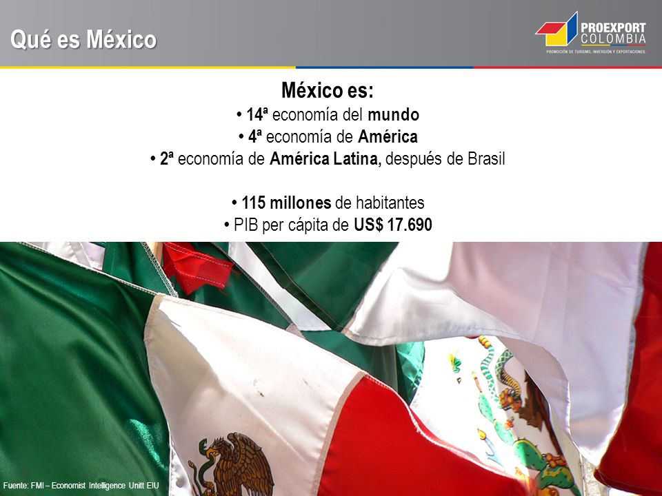 Qué es México México es: 14ª economía del mundo 4ª economía de América